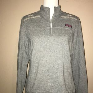 Vineyard vines gray shep shirt pullover